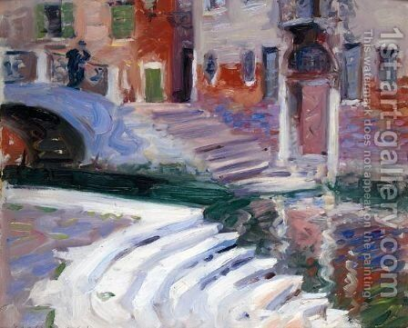 The Steps To The Canal, Venice by Francis Campbell Boileau Cadell - Reproduction Oil Painting