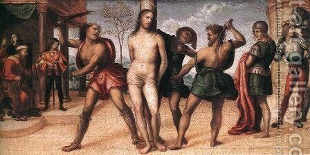 Flagellation Of Christ  1510 by Il Sodoma (Giovanni Antonio Bazzi) - Reproduction Oil Painting
