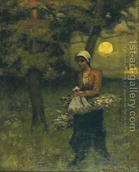 Straw Girl by Elliott Daingerfield - Reproduction Oil Painting