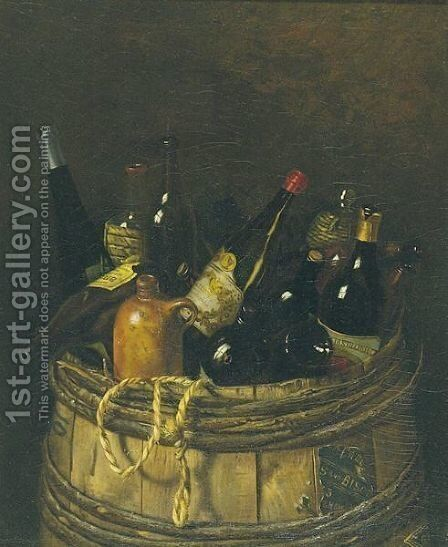 Barrel Of Cheer 2 by American School - Reproduction Oil Painting