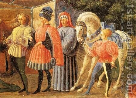Adoration Of The Magi  (Quarate Predella Detail) by Paolo Uccello - Reproduction Oil Painting