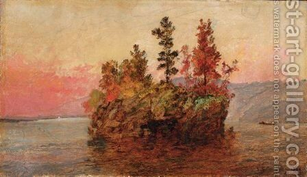 Island In The Hudson by Jasper Francis Cropsey - Reproduction Oil Painting