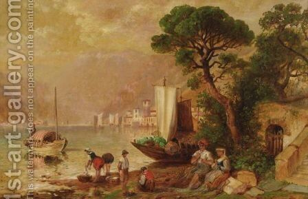 Seaside Chores by Granville Perkins - Reproduction Oil Painting