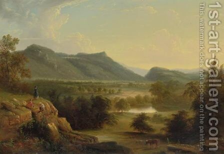 Dover Plains, Dutchess County, New York by (after) Durand, Asher Brown - Reproduction Oil Painting