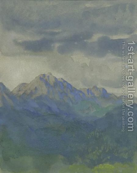 Mountains, Italy by Arthur Bowen Davies - Reproduction Oil Painting