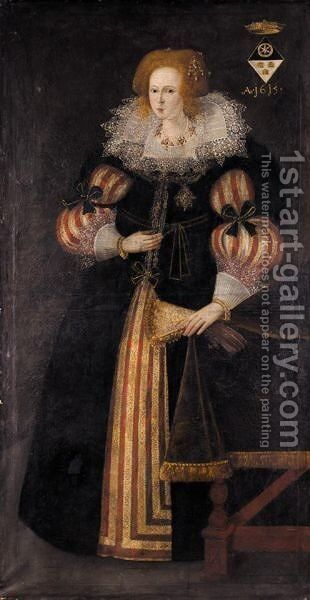 Portrait Of A Lady, A Member Of The Spiering Family Of Baden And Bavaria by (after) Marcus The Younger Gheeraerts - Reproduction Oil Painting