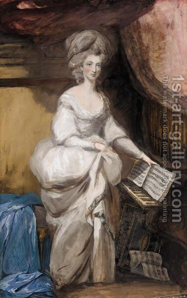 Portrait Of Elizabeth Farren, Later Countess Of Derby by Daniel Gardner - Reproduction Oil Painting