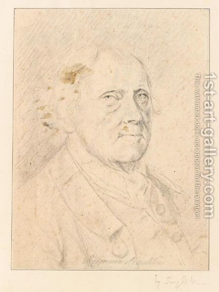 Portrait Of Benjamin Franklin by Henry Singleton - Reproduction Oil Painting