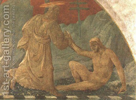 Creation Of Adam 1445 by Paolo Uccello - Reproduction Oil Painting