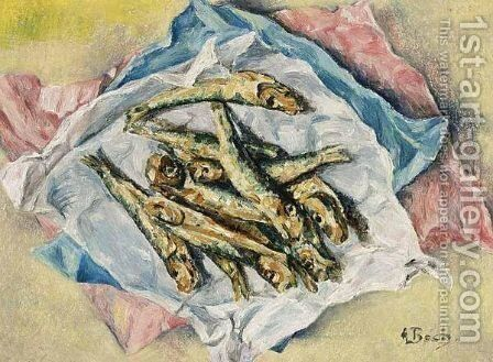 A Still Life With Fish by Anna Boch - Reproduction Oil Painting
