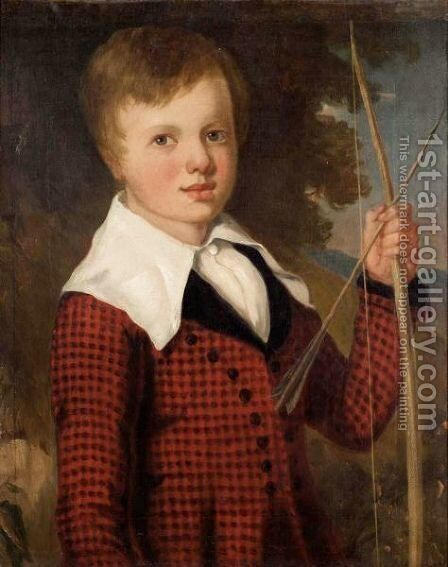 Portrait Of A Boy by (after) Richard Livesay - Reproduction Oil Painting