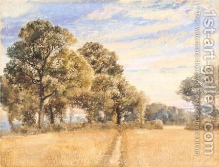 Summer Landscape by (after) Joseph Mallord William Turner - Reproduction Oil Painting