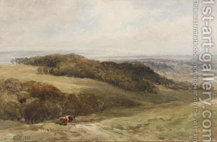 Cattle In A Valley by Edmund Morison Wimperis - Reproduction Oil Painting