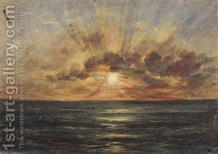 Sunset Over The Indian Ocean by Andrew Nicholl - Reproduction Oil Painting