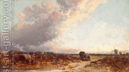 Lanscape With Heather by James Webb - Reproduction Oil Painting