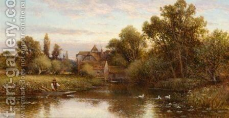 The Ferryman by Alfred Glendening - Reproduction Oil Painting
