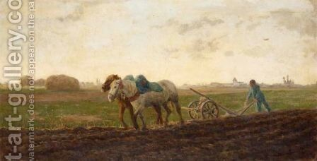 The Ploughing Team by Arthur Lemon - Reproduction Oil Painting