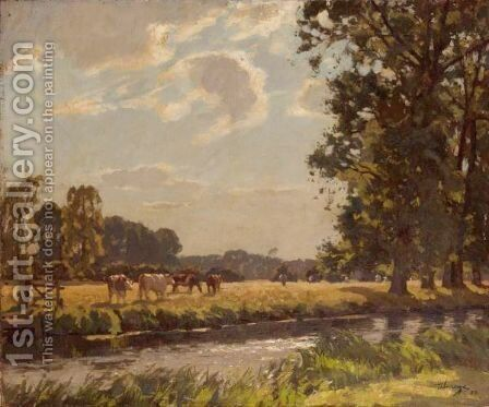 Summer Time by Algernon Mayon Talmage - Reproduction Oil Painting