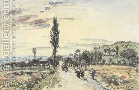 Route De Village by Johan Barthold Jongkind - Reproduction Oil Painting