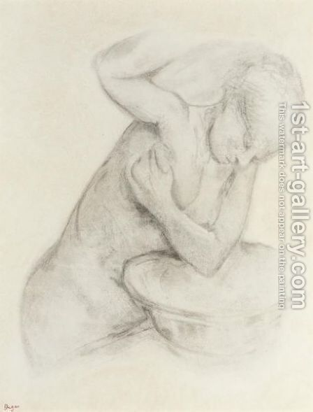 Femme A Sa Toilette 2 by Edgar Degas - Reproduction Oil Painting