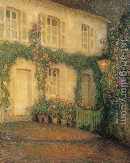 La Lanterne, Gerberoy by Henri Eugene Augustin Le Sidaner - Reproduction Oil Painting