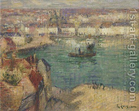 Le Port De Dieppe 2 by Gustave Loiseau - Reproduction Oil Painting