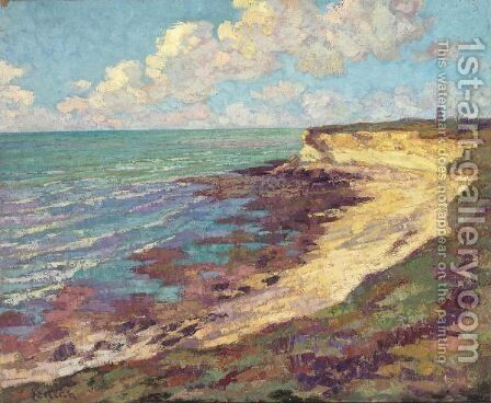 Au Bord De La Mer by Gustave Loiseau - Reproduction Oil Painting