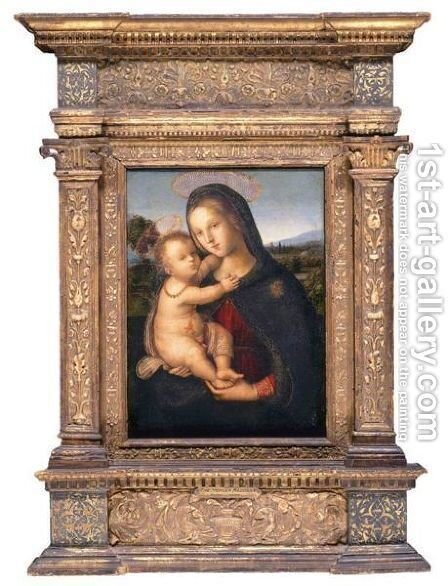 The Madonna And Child Before A Landscape (The Morgan Madonna) by Bernardino di Betto (Pinturicchio) - Reproduction Oil Painting
