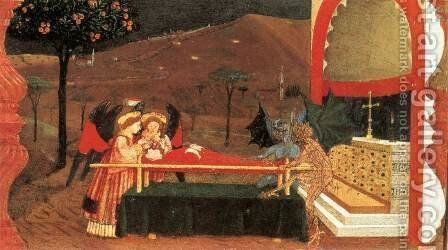 Miracle of the Desecrated Host (Scene 6) 1465-69 by Paolo Uccello - Reproduction Oil Painting