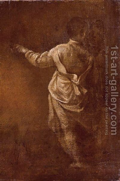 Study Of A Young Boy, Seen From Behind by (after) Donato Creti - Reproduction Oil Painting