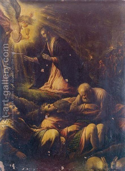 The Agony In The Garden by (after) Francesco Da Ponte, Called Francesco Bassano - Reproduction Oil Painting