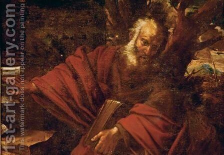 A Bearded Saint Or Prophet In A Landscape, Probably Saint Jerome by (after) Pier Francesco Mola - Reproduction Oil Painting