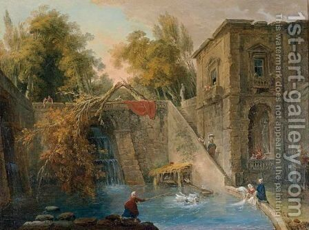 L'Arbre Brise by (after) Hubert Robert - Reproduction Oil Painting
