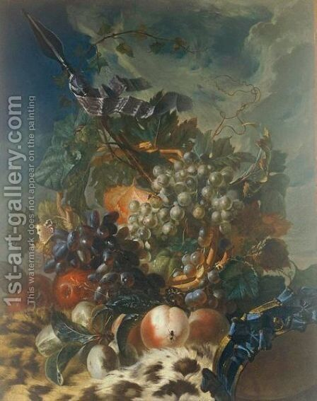 Still Life Of Fruit by (after) Luis Paret Y Alcazar - Reproduction Oil Painting