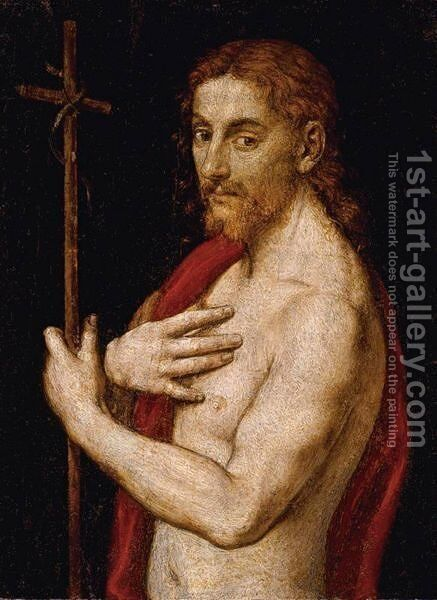 Saint John The Baptist by (after) Giovanni Francesco Caroto - Reproduction Oil Painting