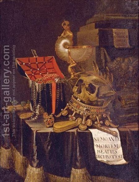 Vanitas Still Life 3 by Edwart Collier - Reproduction Oil Painting