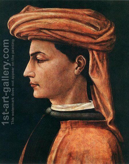 Portrait of a Young Man 1450s by Paolo Uccello - Reproduction Oil Painting