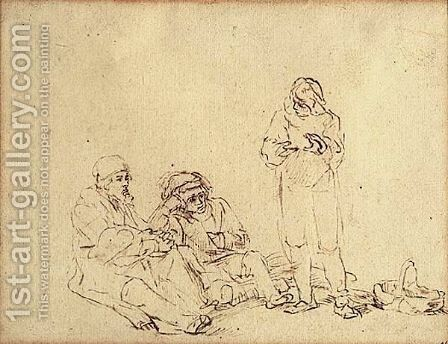 Joseph Interpreting Pharoh's Dreams by (after) Harmenszoon Van Rijn Rembrandt - Reproduction Oil Painting