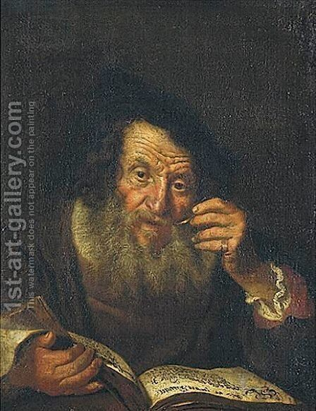 Portrait Of A Bearded Old Man by (after) Christoph Paudiss - Reproduction Oil Painting