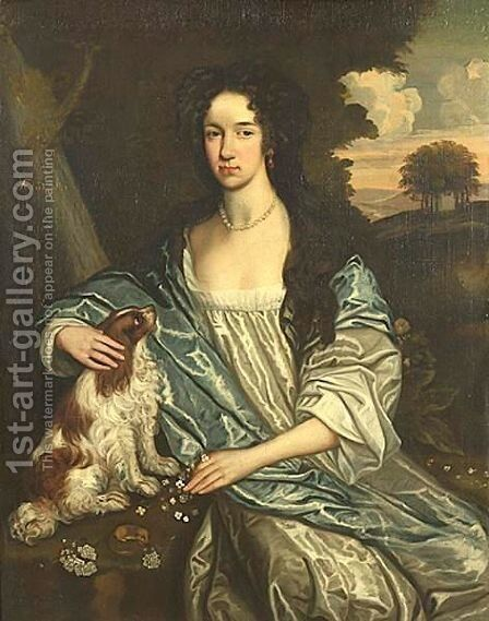 Portrait Of A Young Lady, Age 13 by Anglo-Dutch School - Reproduction Oil Painting