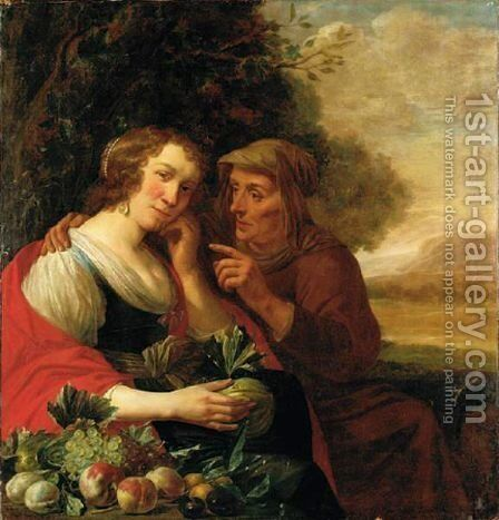 Vertumnus And Pomona by Jan Olis - Reproduction Oil Painting