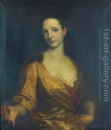 Portrait Of A Young Lady by (after) John Smibert - Reproduction Oil Painting