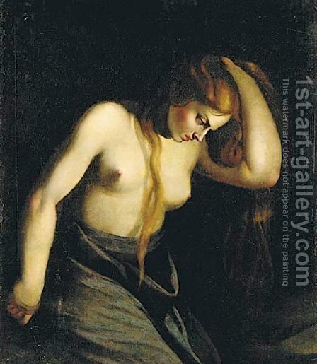 Penitent Magdalene by (after) Michelangelo Merisi Da Caravaggio - Reproduction Oil Painting
