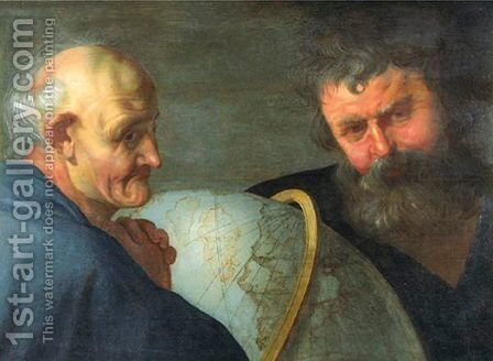 Two Astronomers by Haarlem School - Reproduction Oil Painting