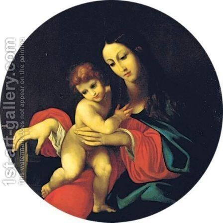 Madonna And Child by (after) Lodovico Carracci - Reproduction Oil Painting