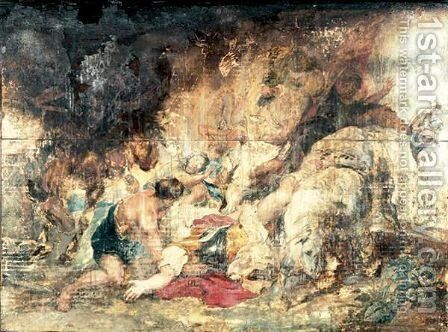 The Conversion Of Saint Paul 2 by (after) Sir Peter Paul Rubens - Reproduction Oil Painting