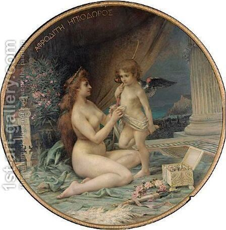 Venus And Cupid by Henri Camille Danger - Reproduction Oil Painting