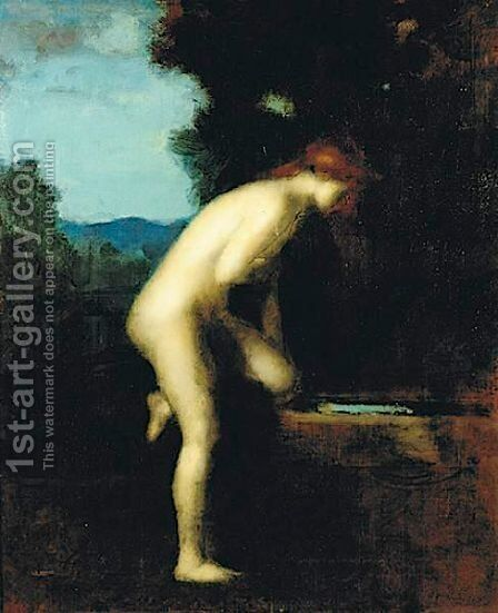 La Fontaine 2 by Jean-Jacques Henner - Reproduction Oil Painting
