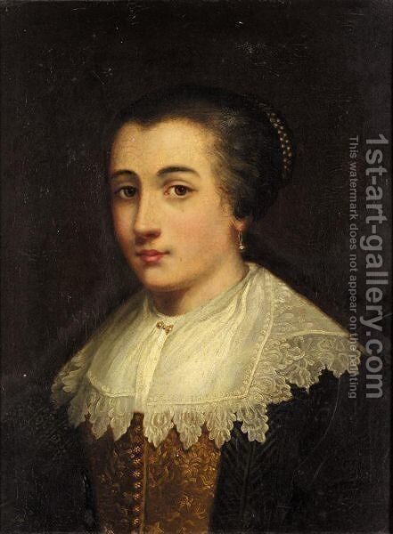 Portrait Of A Lady by (after) Dyck, Sir Anthony van - Reproduction Oil Painting