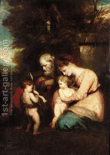 The Holy Family by (after) Sir Joshua Reynolds - Reproduction Oil Painting